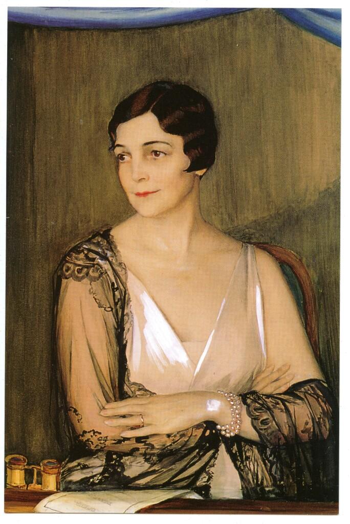 Портрет миссис Мэйбл Джон Ринглинг. 1927 г. Бумага, акварель, белила. 124 Х 78.5. Музей изящных искусств  Джона и  Мэйбл Ринглинг. Сарасота. Калифорния. США