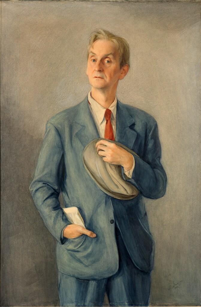 Портрет Анатолия Дюбуа. 1942 г. Бумага, на холсте, акриловая краска. 137 Х 91. ГТ