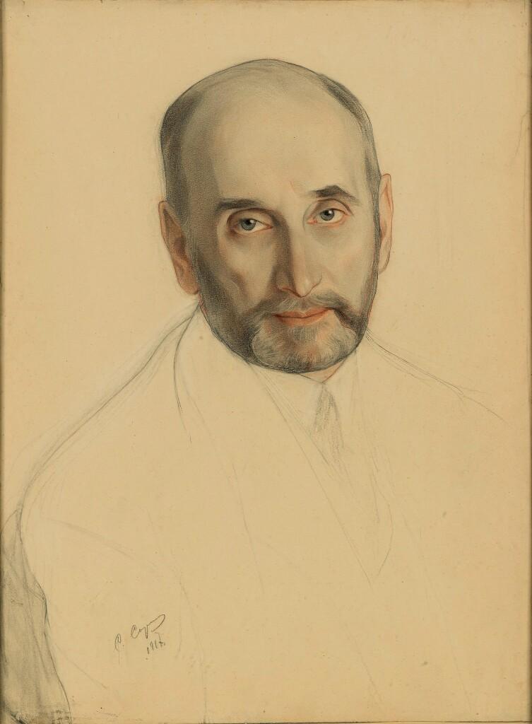 Портрет С. Д.Сазонова. 1917 г. Бумага, смешанная техника. 58 Х 44. ГТГ