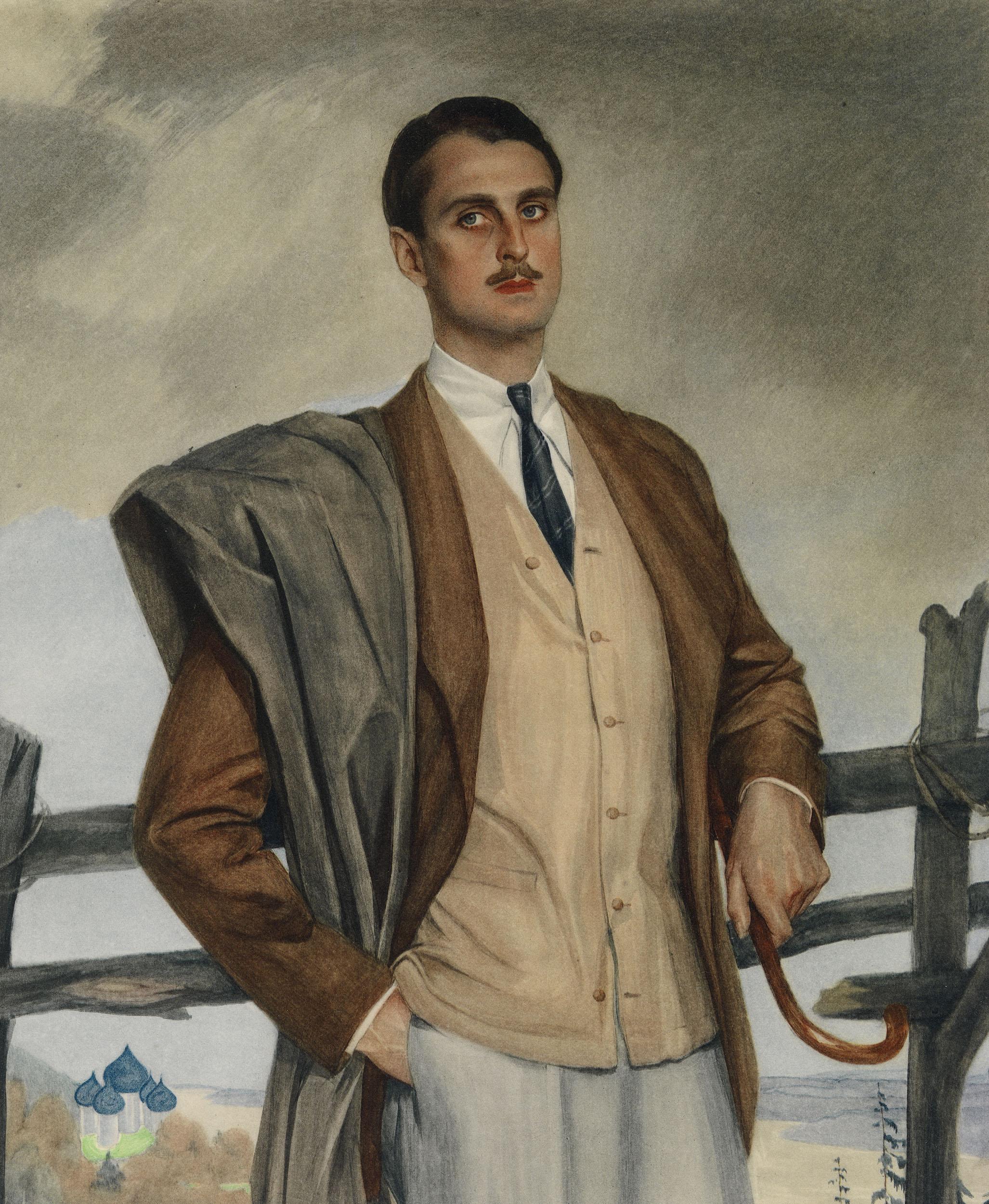 Портрет князя Сергея Оболенского.1924 г.