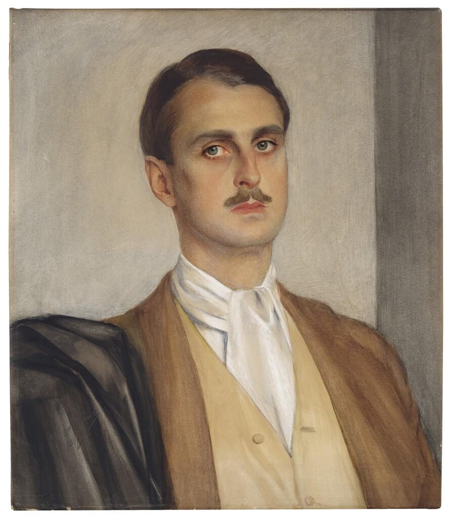 Портрет Сергея Оболенского 1927. Смешанная техника. 62.2 х 54. Вариант