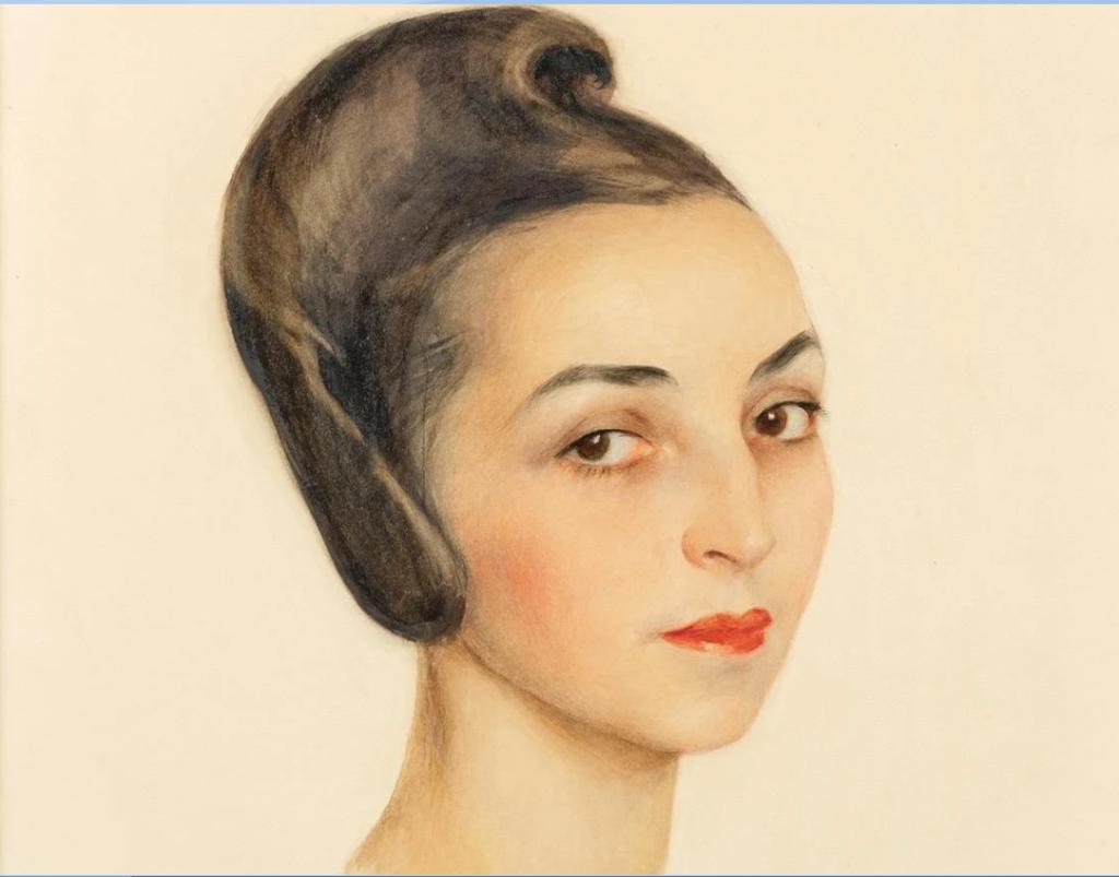 Портрет миссис Розы Курт Штерн. 1941. Бумага, акварель, чернила, цветные, мелки  54 Х 43