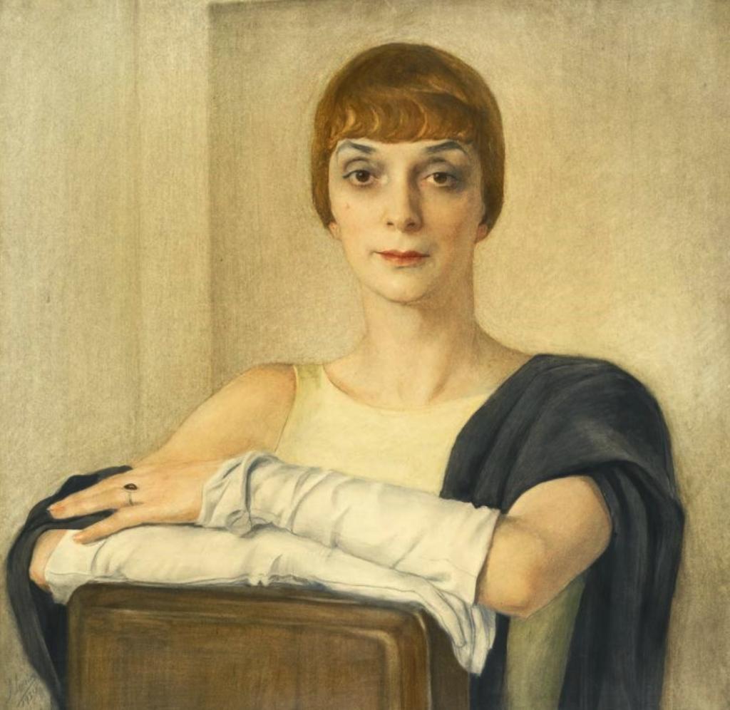 Принцесса Туркеска. 1934. 66х66 .Бумага нахолсте, акварель