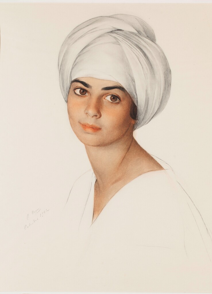 Портрет Маргарет-Дороти -  «Нин» Кон (Kahn). Смешанная техника. 1921 г