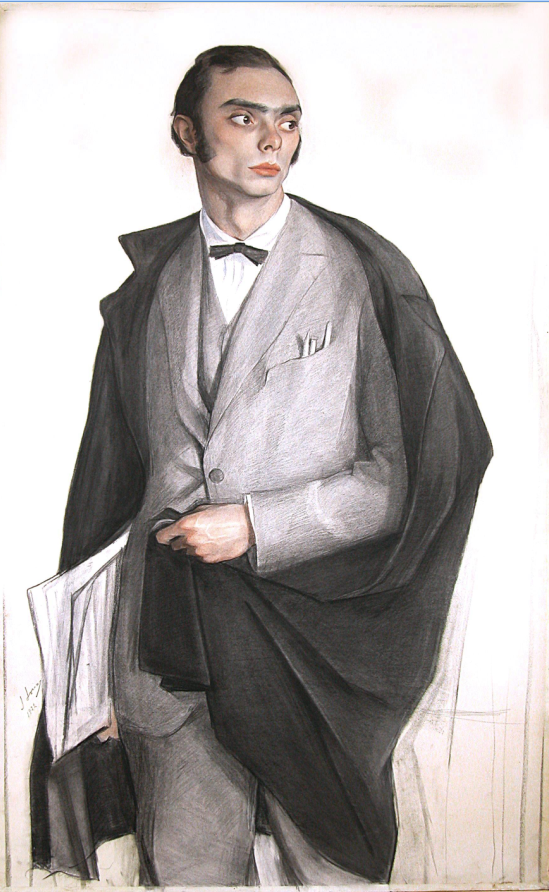 Портрет художника А. М. Ланского. 1922 г. Бумага, наклеенная на холст, смешанная  техника. 133 Х 80. Донецк. Украина