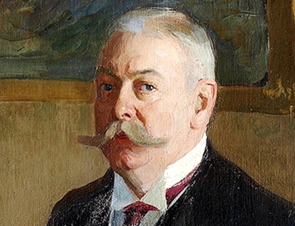 Портрет О. Б. Монасевича 1906г. х.м.158x90 Таганрогский худ. музей
