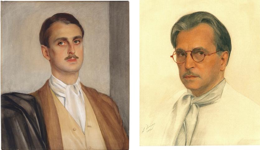 Портрет князя  С. П. Оболенского                       Автопортрет  1936 1927