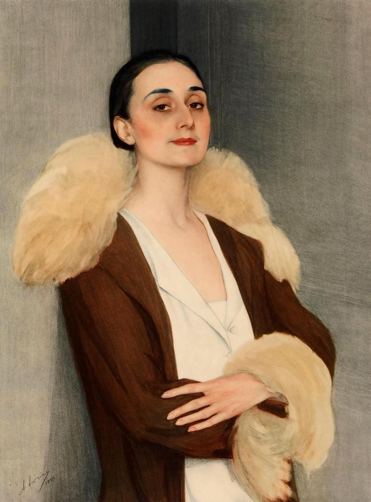 24  Княгиня Чолокаева-Мелита Чолокашвили 1927г. темпера на картоне 90x68 Музей Fine Art Тбилиси -