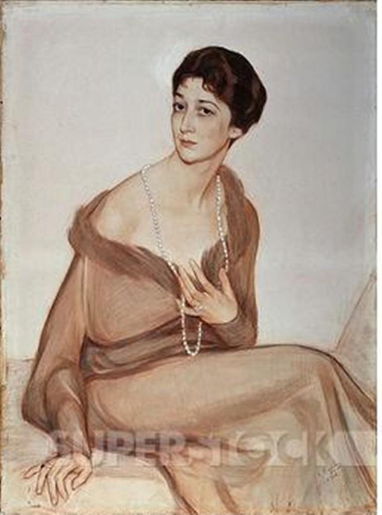 25 Портрет Ванды Вейнер -1916.Giclee print 18''x24''