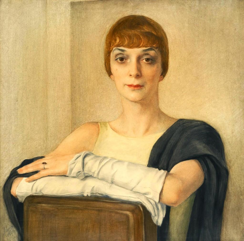 Принцесса Туркеска 1934г. 66х66 бум. х.кар. акв.