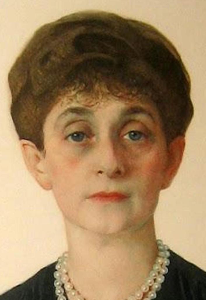 72.1Портрет mme. Otto H .Kаhn -бывш. Аделаида Волф-жены Отто Германа Кона 1925 бум.кар.акв. цв.кар.72x54.5