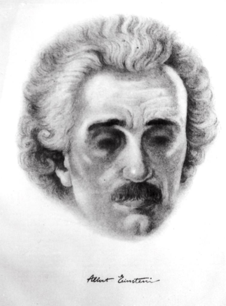 91 портрет А.Эйнштейна 1920-е годы. Берлин