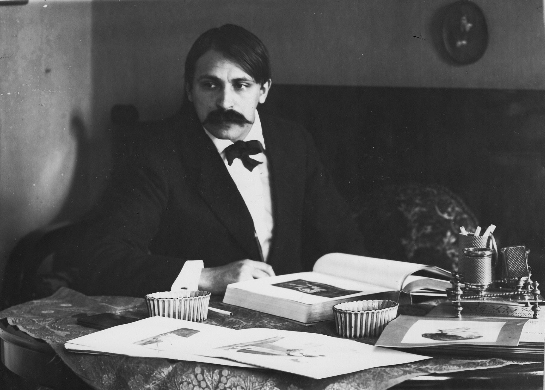 С. Сорин в своей мастерской Фото 1900-е гг.ЦГАКФФД СПб Е18300