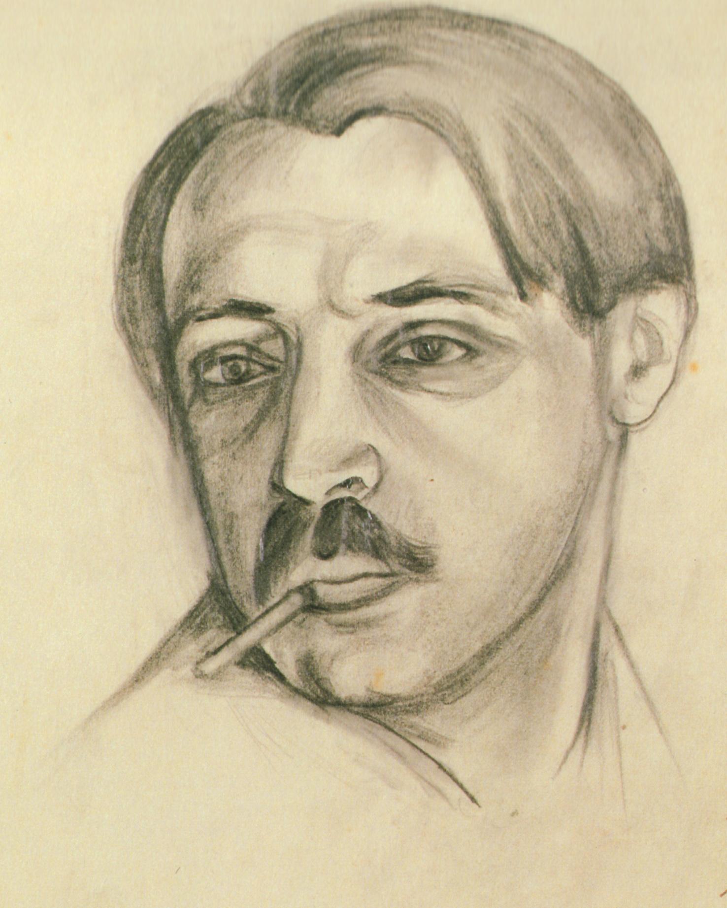 Автопортрет из альбома В. Судейкиной. Рисунок.