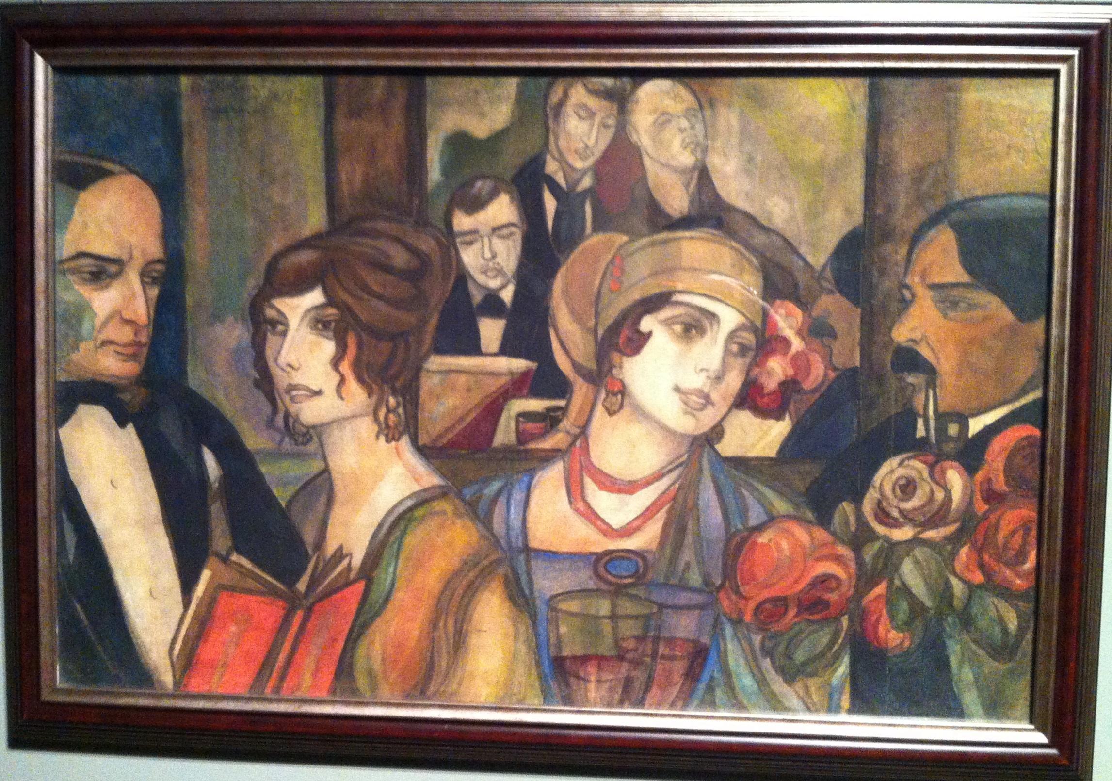 Судейкин. В тифллисском кафе. 1919г.