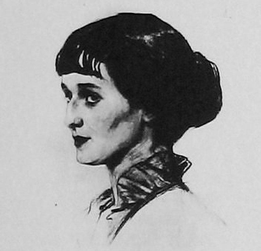 Портрет А.А.Ахматовой 1913г. рисунок