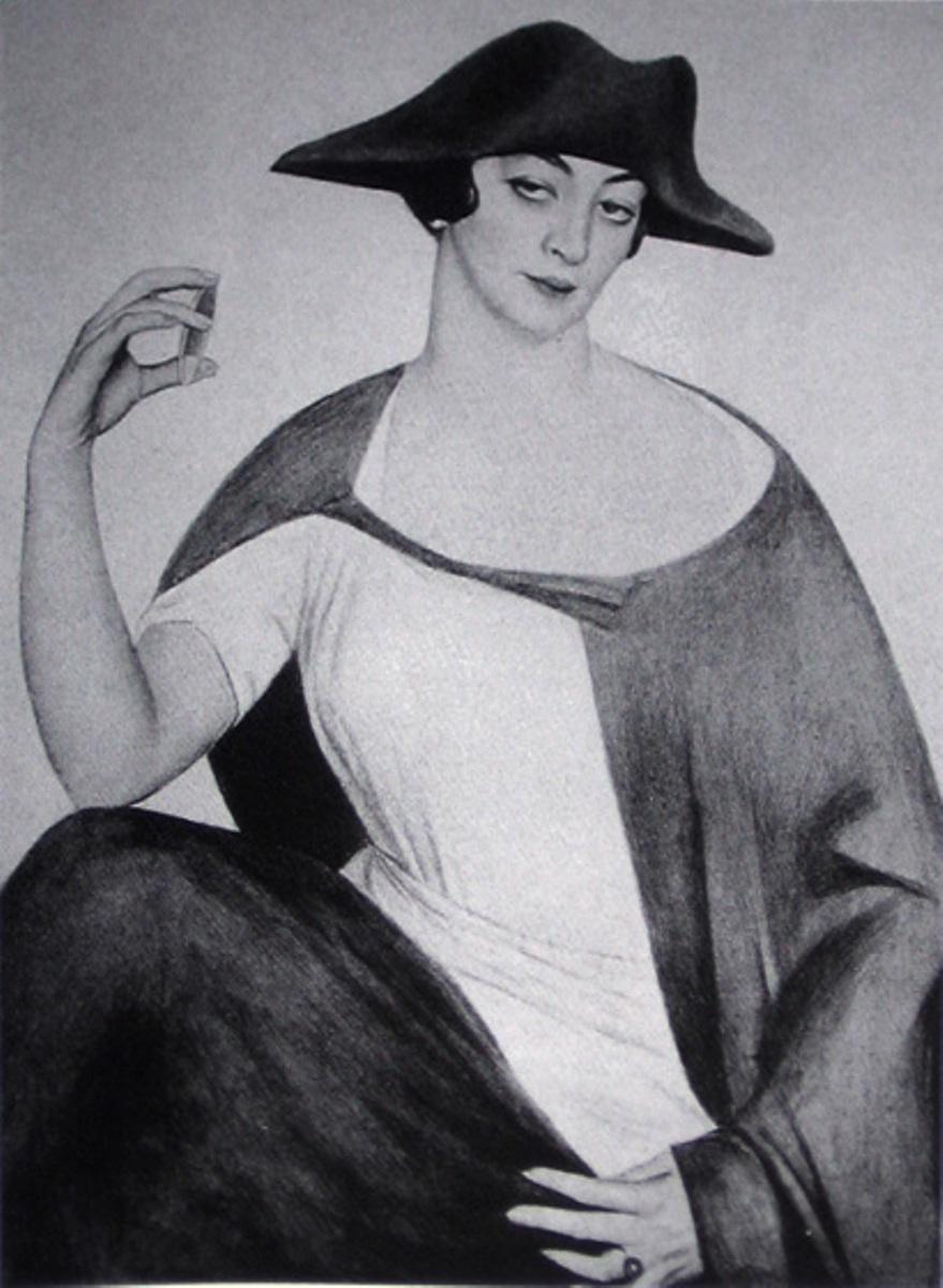 Портрет Мадам Нюся Ротво - Mme Rotwand).1921г. фотогравюра из альбома.1929