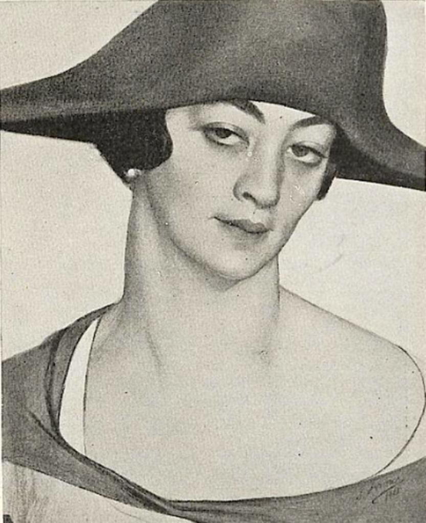 Портрет Мадам Нюся Ротво - Mme Rotwand).1921г. Второй вариант