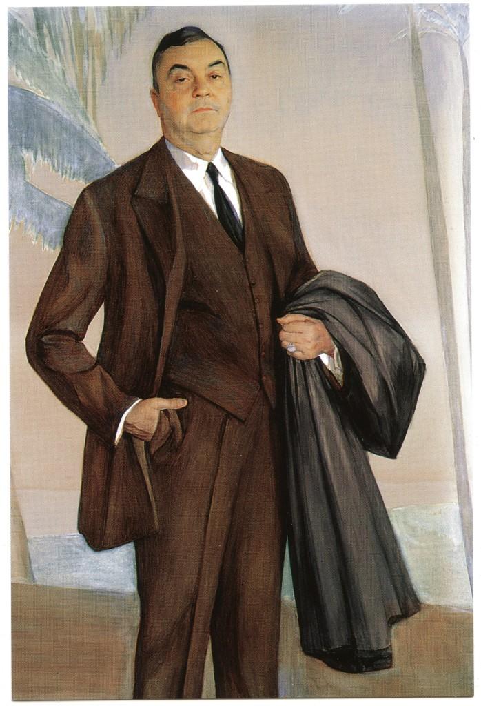 Открытка с изображением портрета Джона Ринглинга. 1927г.