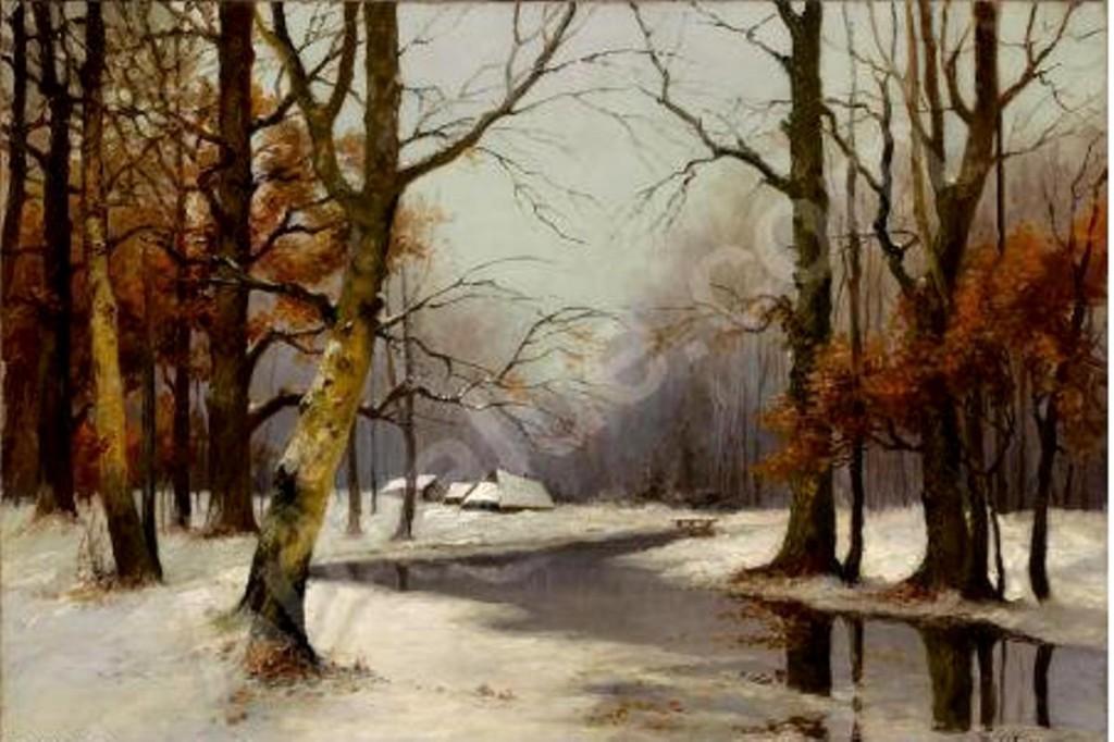 Зимний пейзаж 1922  х. .м. 71,1x100,3