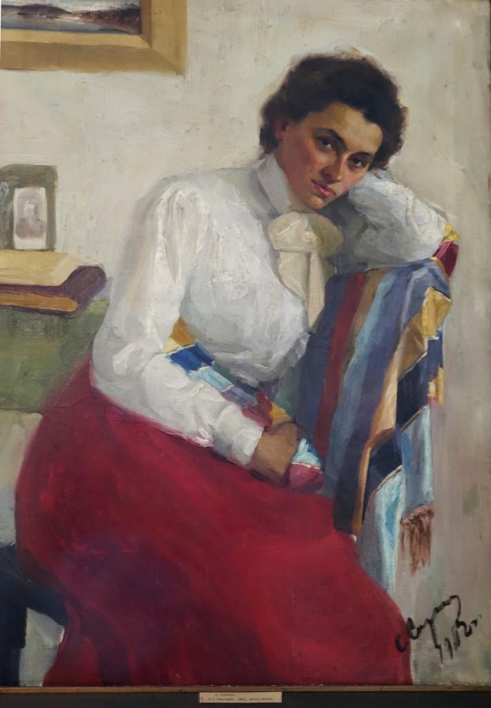 Портрет Екатерины Пешковой 1902 х.м. музей М.Горького Москва