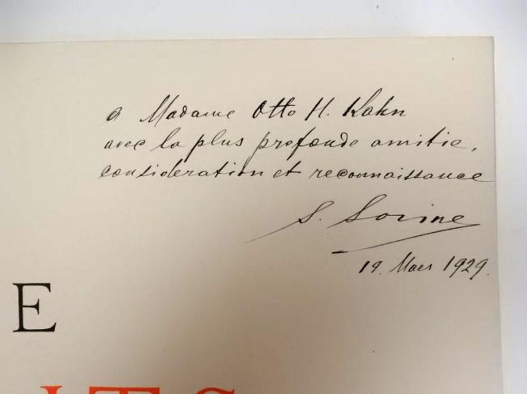 15Дарственная надпись С.Сорина Mrs Otto Kahn