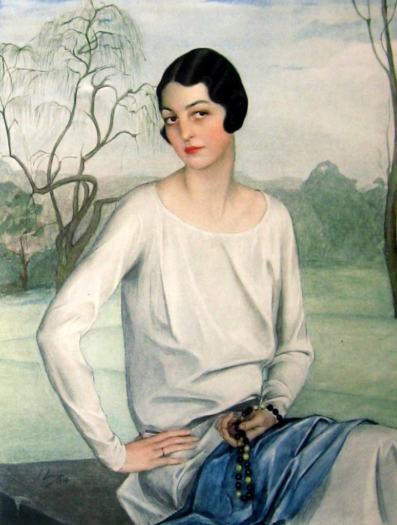 Портрет  Элис Оболенской 192о-е годы