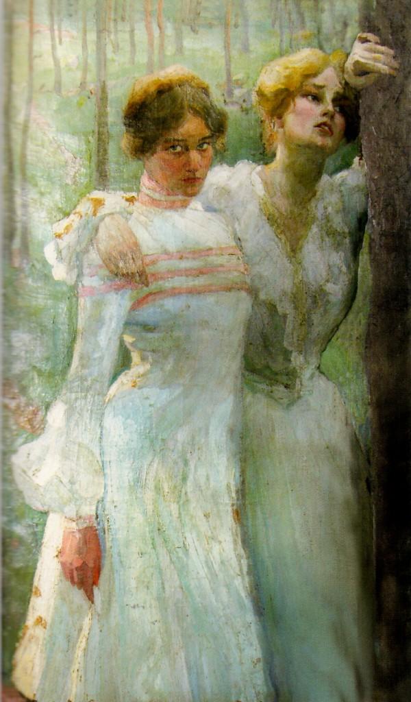 Портрет двух сестер 1905г.