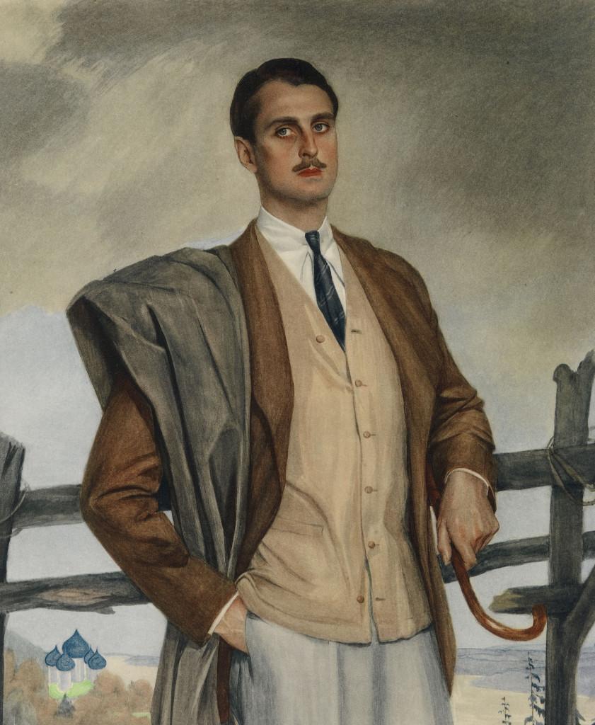 Портрет Сергея Оболенского 1920-е годы.