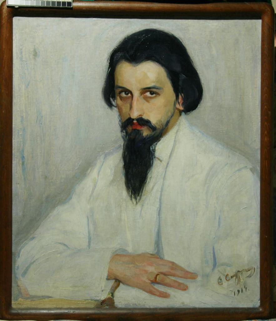 Портрет Н.Д. Милиотти 1914 . х. м. 60Х52.частная коллекция СПб