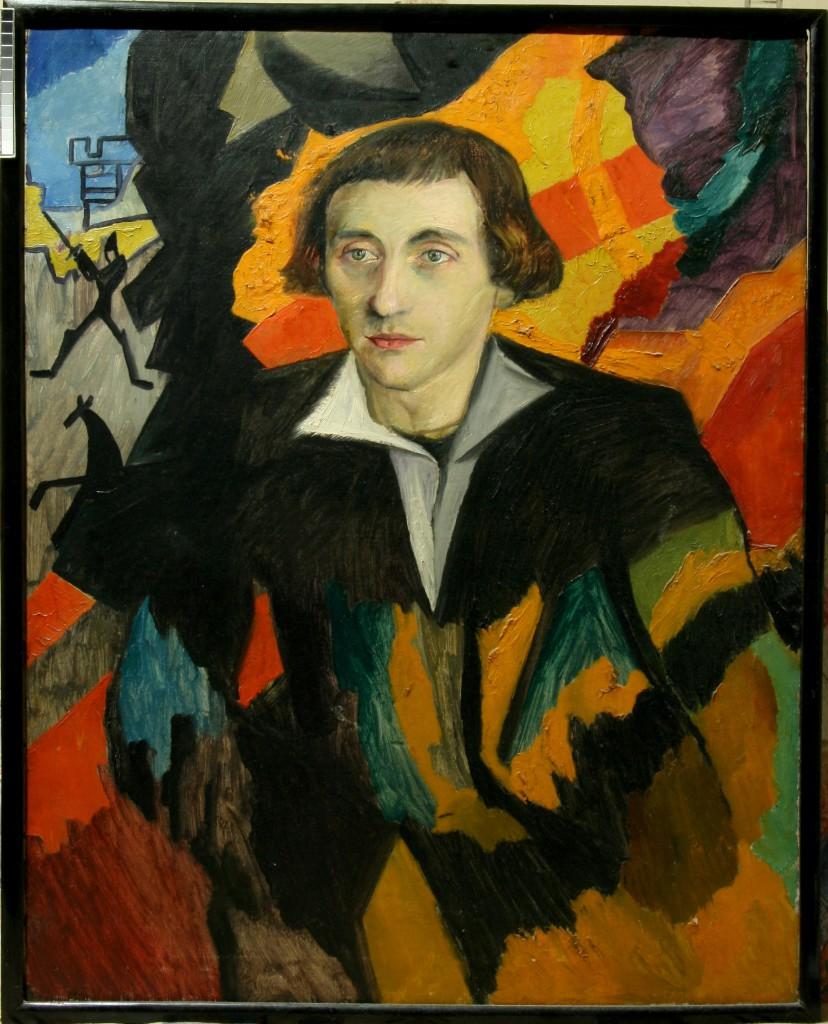 Портрет НН Евреинова Сорин, Судейкин,Кульбин 1912 х. м.клеевая краска 89Х70. Частная колл. СПБ