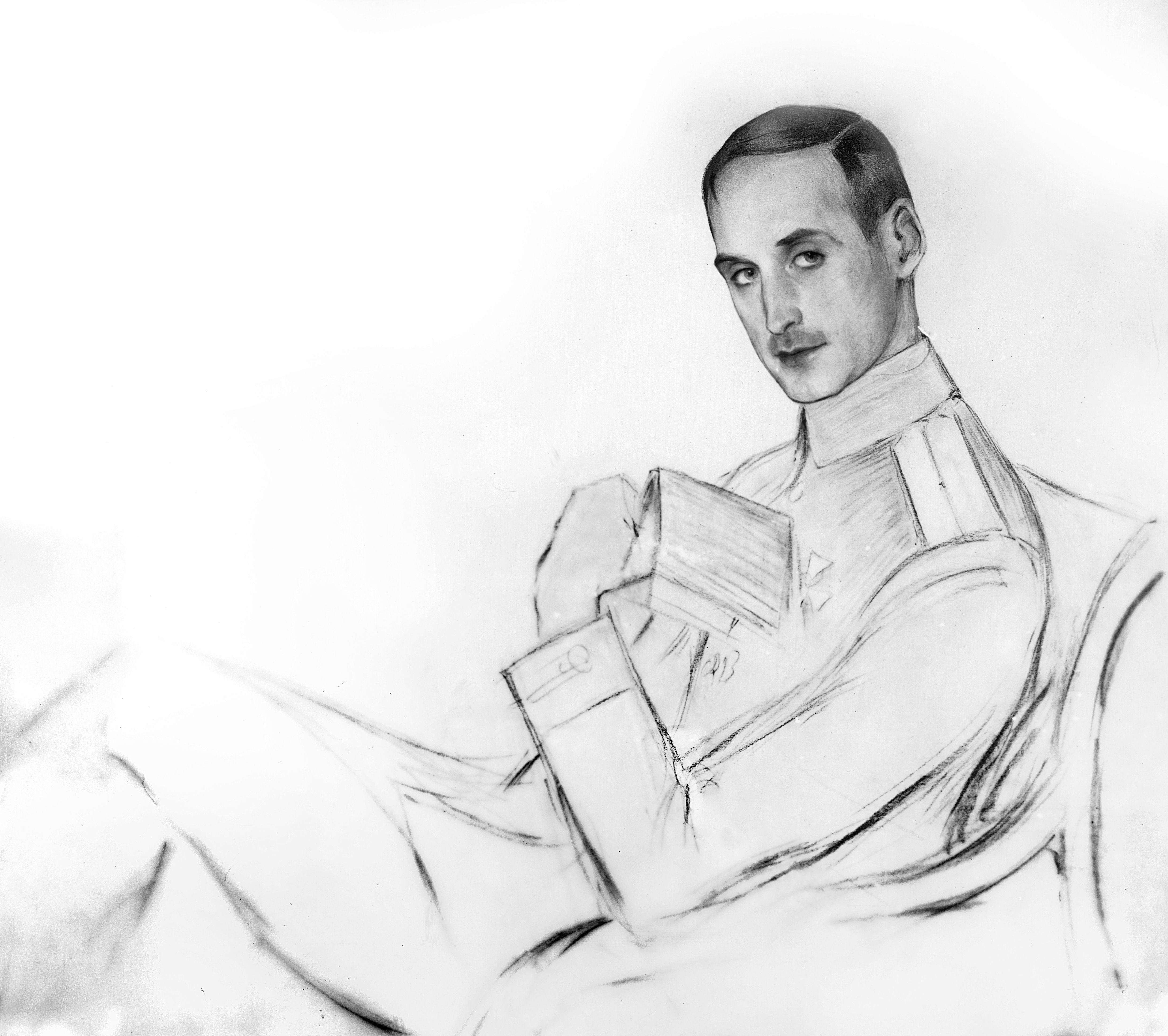 Портрет Г. Лукомского. Рисунок 1917 г.