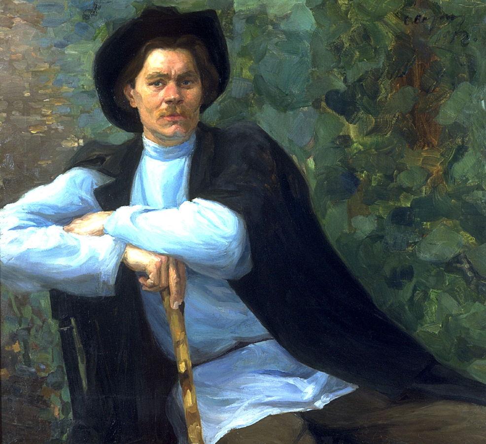 Портрет М.Горького 1902 х.м.77.5Х95.3gift of  mrs.J.A.Ford. США Сан-Франциско Fine Arts Museum