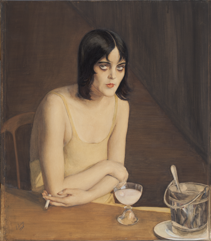 Пьяница - Boîte de nuit.1926. 84 x 74 cm бум кар. темпера Частн. колл. Мюнхен