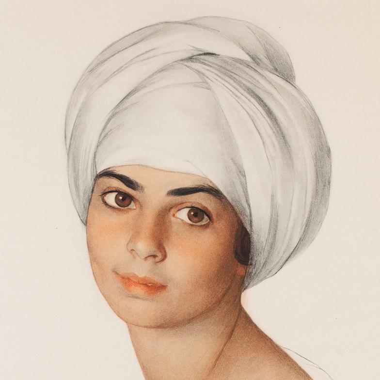 Портрет Маргарет-Дороти -  «Нин» Кон (Kahn). 1921 г. Фрагмент
