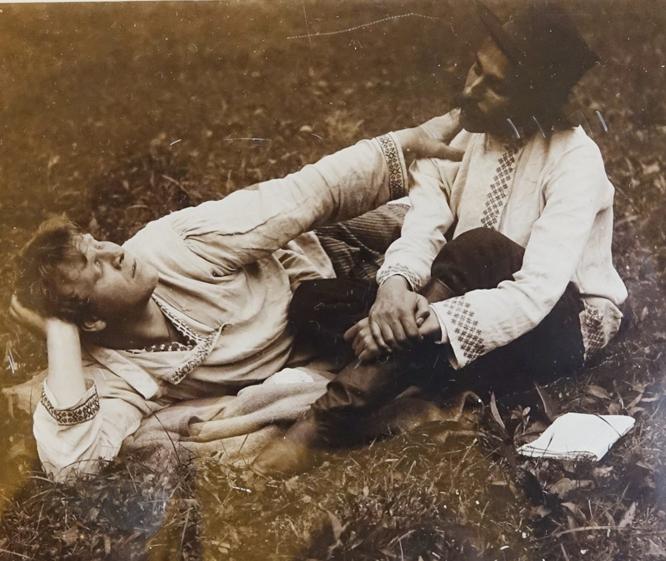 Ф. Шаляпин и С. Сорин. Театральное имение Мешкова.  1902 г..