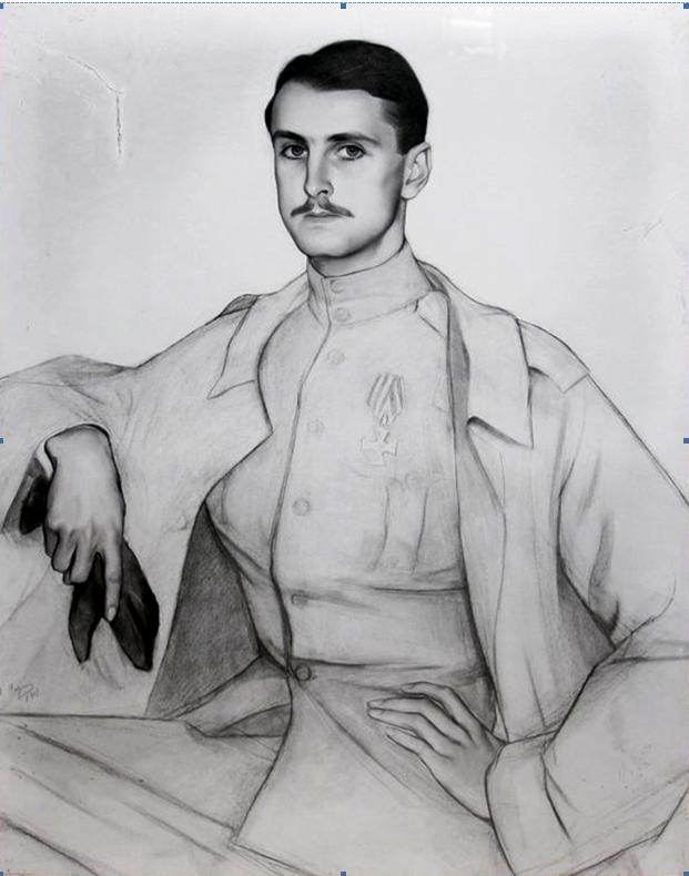 Портрет князя Сергея Платоновича Оболенского. 1917. Вариант
