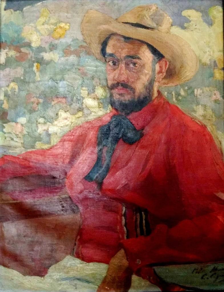 Автопортрет в шляпе 1905 х. м. 87 Х 70
