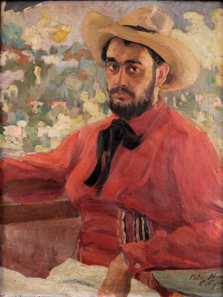 Автопортрет в шляпе 1906 х. м. 80Х61(87 Х 70. Частная коллекция