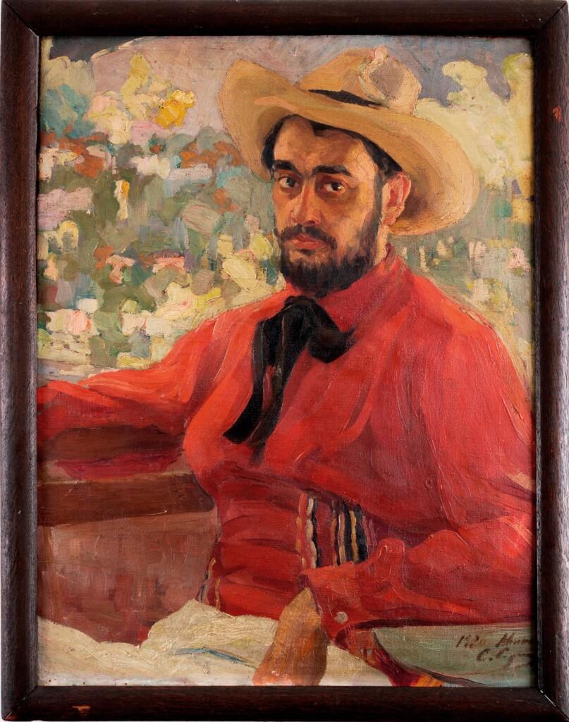 Автопортрет в шляпе 1906 х. м. 87 Х 70. Частное собрание. Израиль