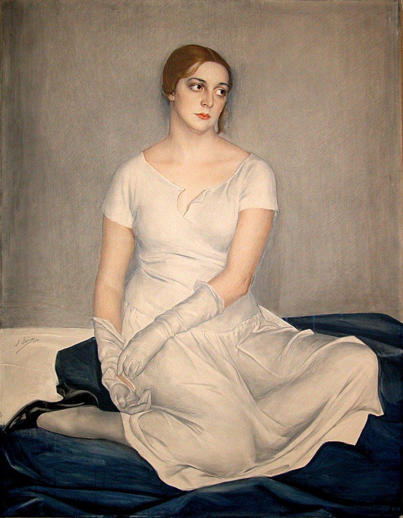Портрет киноактрисы Наталии Кованько 1923 х.м. Донецк