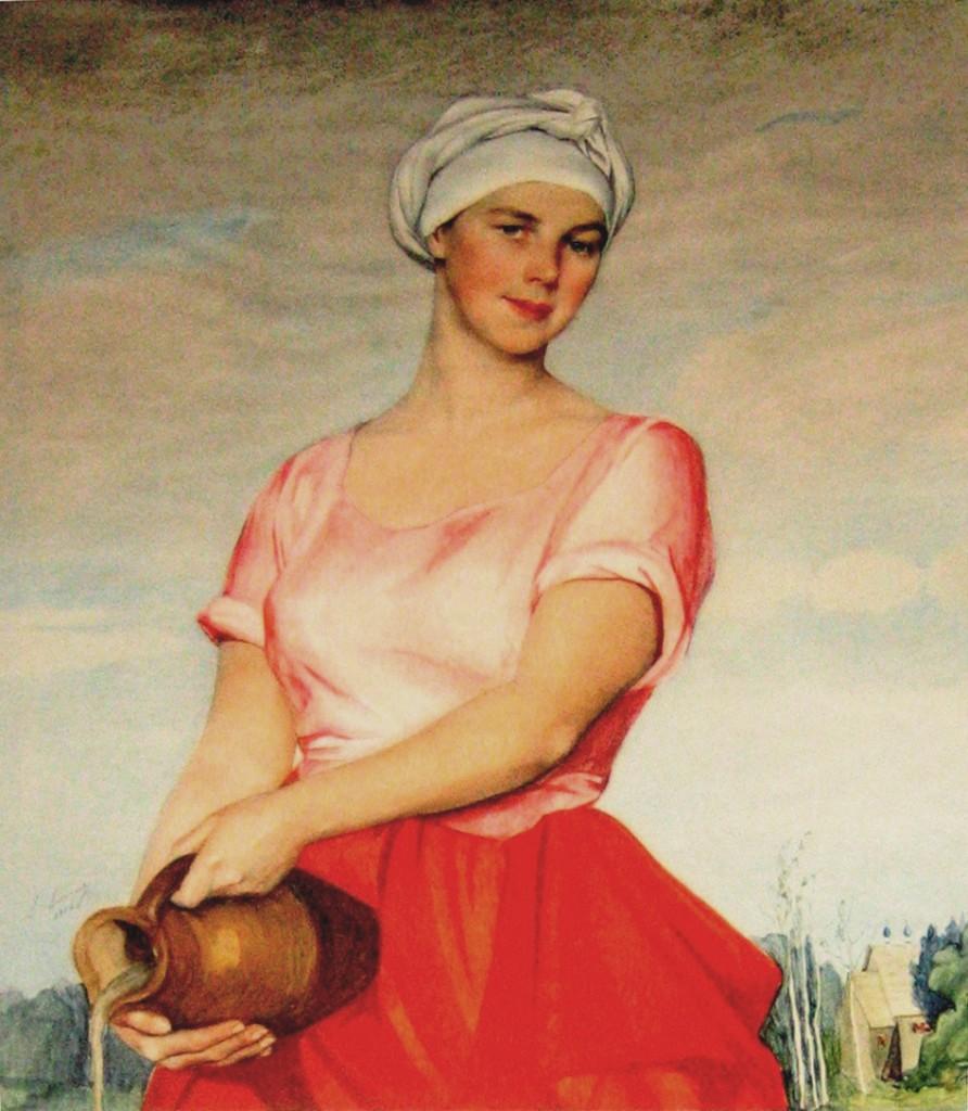 Волжская женщина с кувшином 1920-е 55'88x43'18см