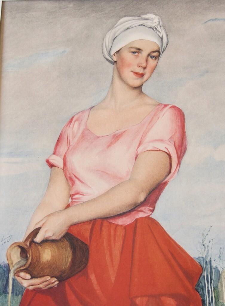 30.1 Волжская женщина с кувшином(портрет А. Кашиной-Евреиновой) 1925 55'88x43'18 Бостон США