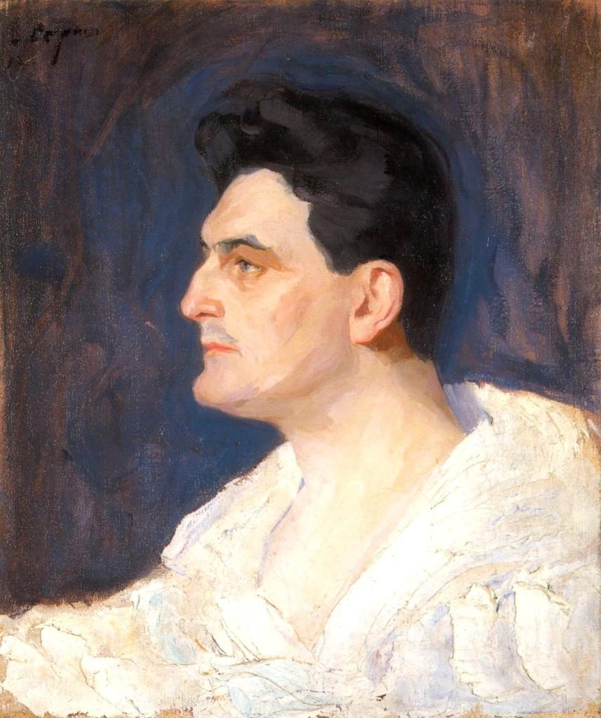Портрет Роберта Львовича Адельгейма  1912 55,5х47 х. м. Пермь