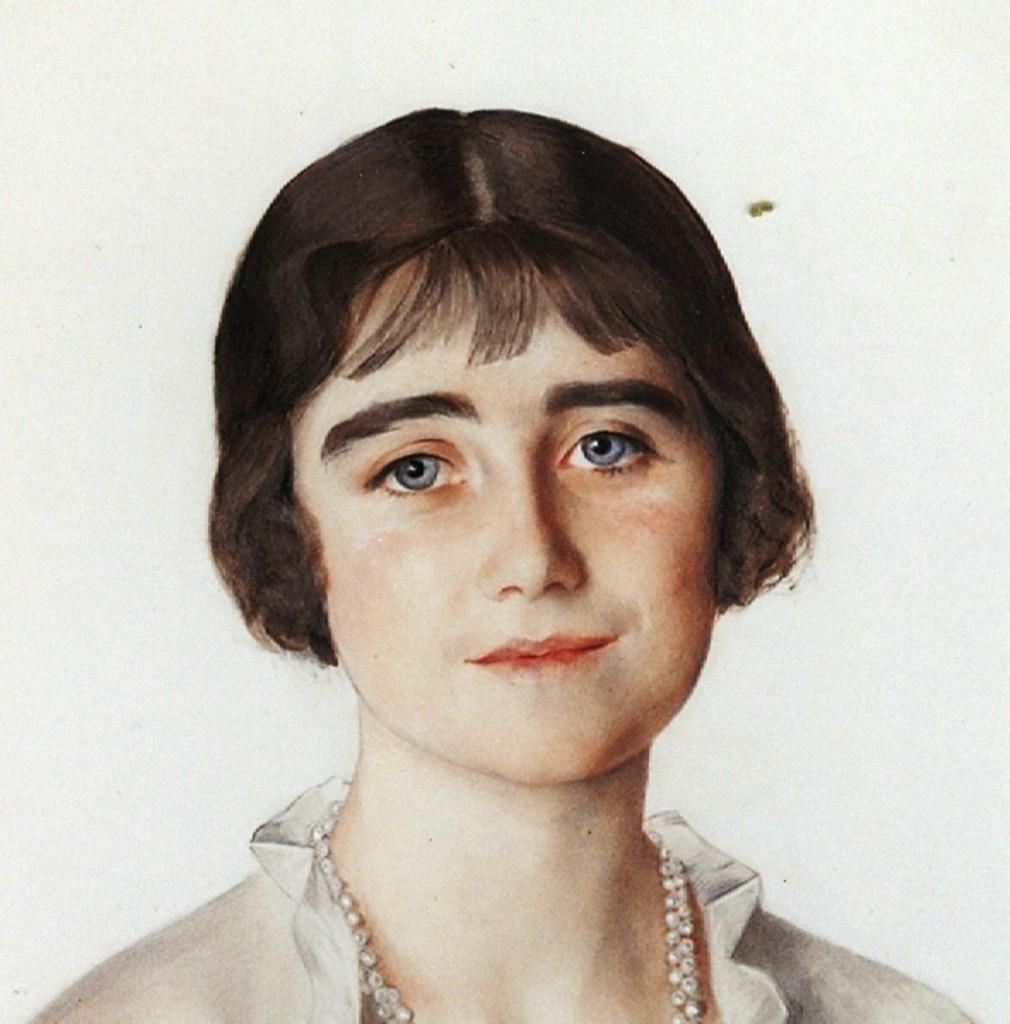 портрет девушки со шляпой-Елизавета  -H M Queen consort E lizabeth Bowes-Lion Королева-мать , тогда- принцесса Йоркская  1923г бум. акв.133x112 Кларенс-хаус Лондон
