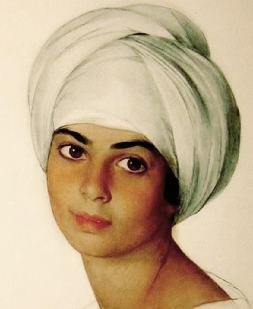 Портрет Маргарет-Дороти ''Нин'' Кон (Kahn) 1921 (фрагмент)