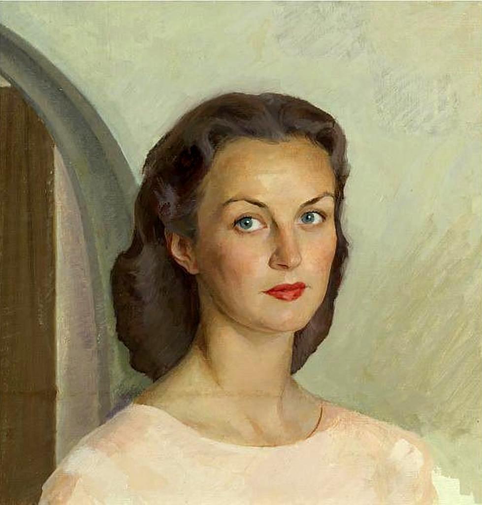 Портрет Вивьен Ли - х.м .47.5x46(76x54 )