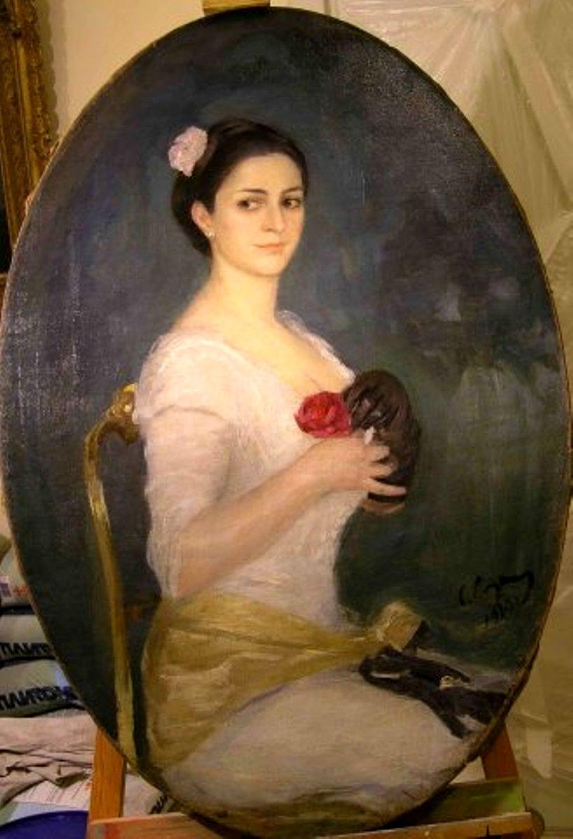 Портрет в русск. стиле  1910 х.м. 106Х70