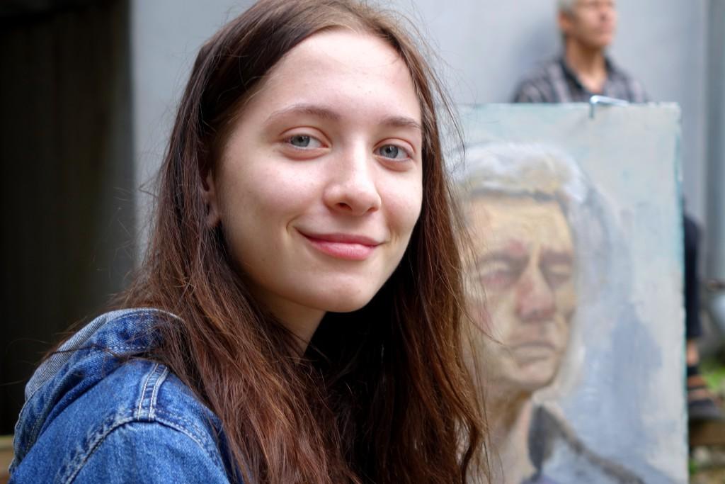 Портрет юной портретистки.