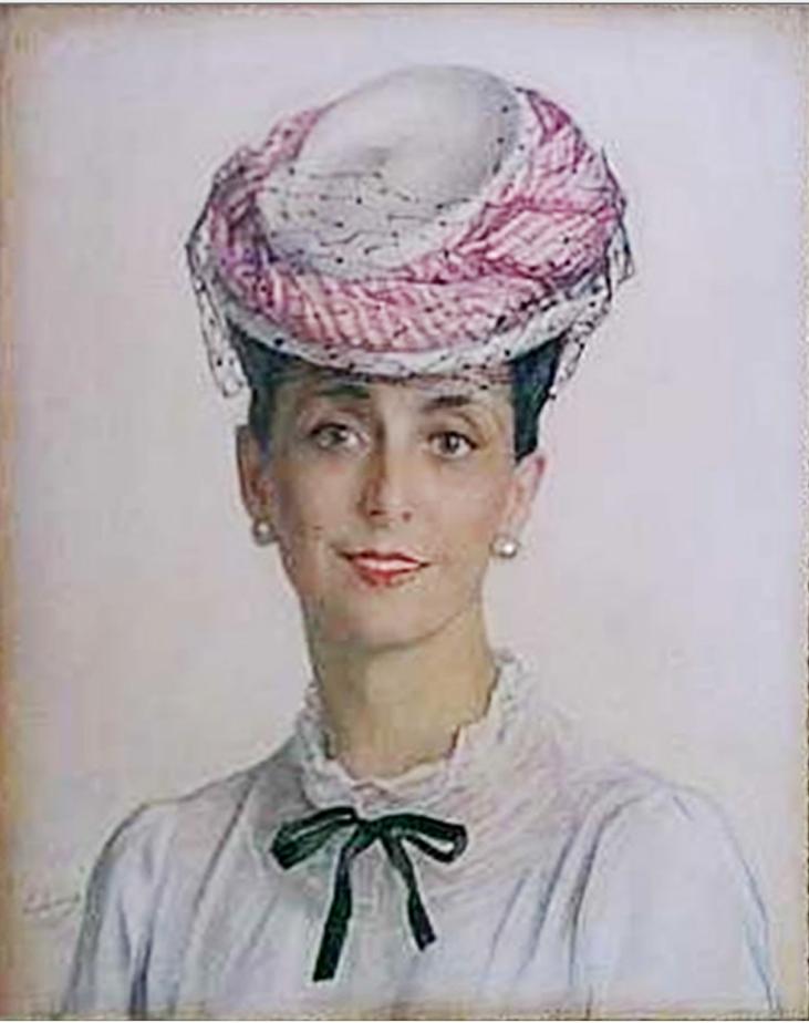 Портрет А. С. Сориной в шляпке. 1945. Х., м. Колл. принца Монако. №00793